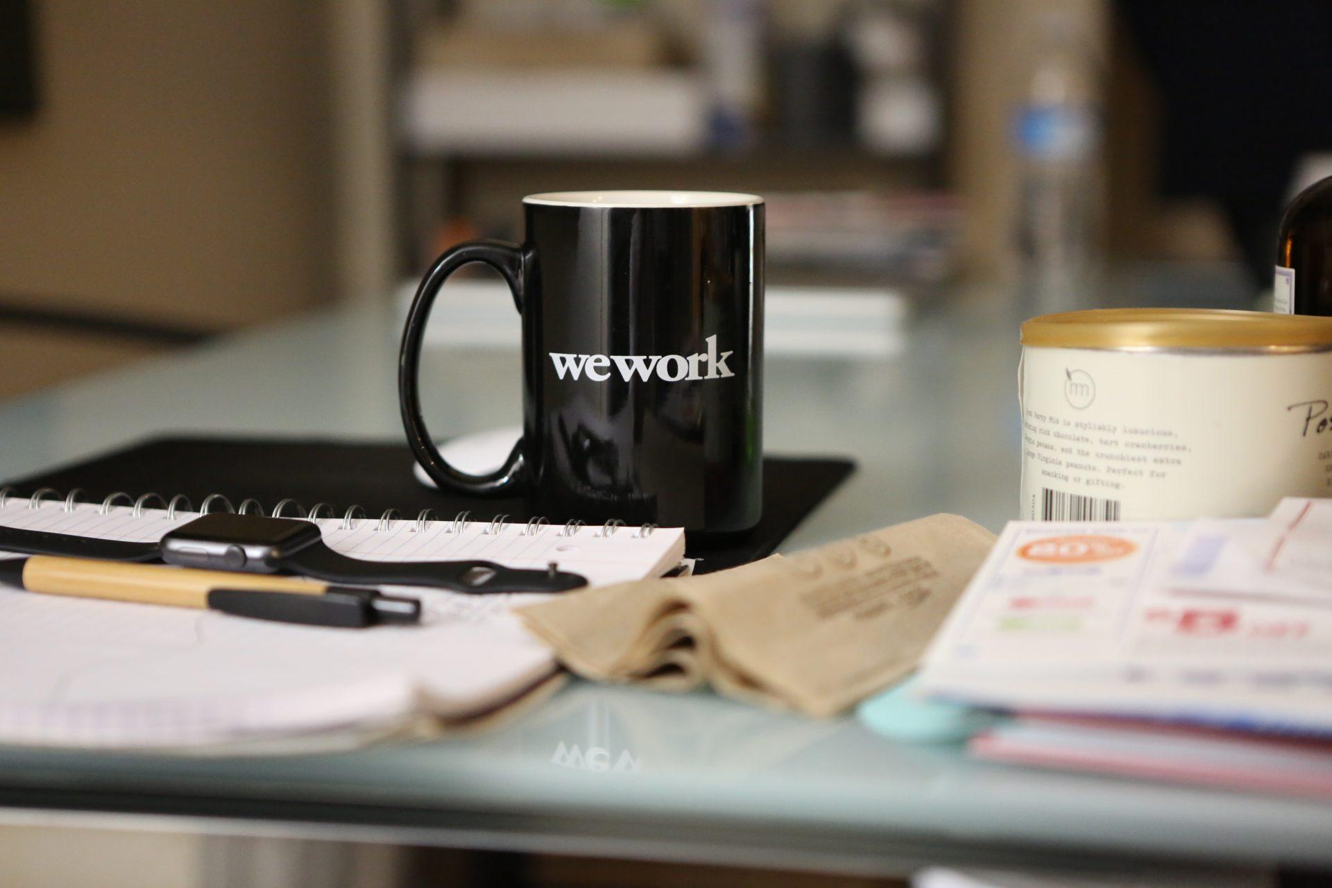 WeWork kahvikuppi